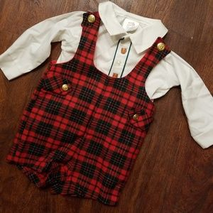 Vintage boy holiday outfit